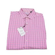 Robert Graham Mancora Plaid Long Sleeve Shirt Large Pink Purple