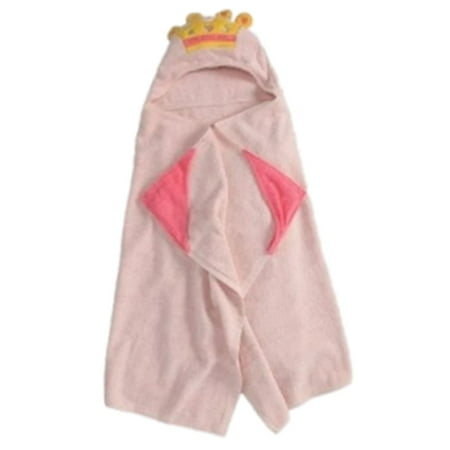 Peanut & Ollie Hooded Princess Bath Towel Child Size Pink 100% (Princess Hooded Bath Towel)