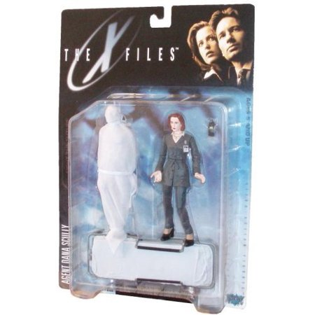The X-Files 1998 Series One Fight the Future 5-1/2 Inch Tall Ultra Action Figure - Agent Dana Scully with Cellular Phone Wrapped Corpse and Gurney - image 1 of 1