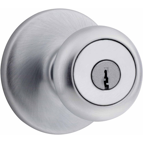 Kwikset Satin Chrome Mobile Home Entry Knob