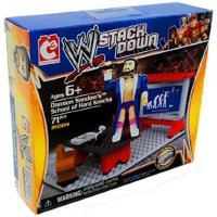 WWE Stack Down Universe Damien Sandow's School of Hard Knocks 71Pcs 21004 Construction Works with Major Block Brands, Officially Licensed By The Bridge Direct