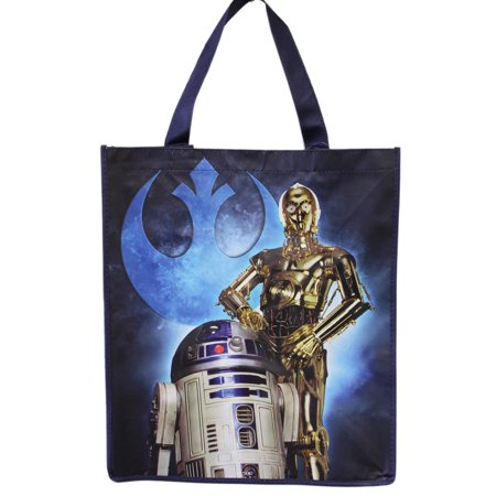 Star Wars C3PO and R2D2 Light Material Tote Bag](Star Wars Tote)