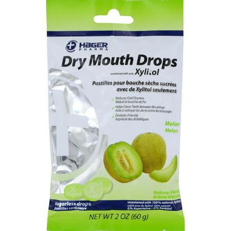 Hager Pharma Dry Mouth Drops   Melon   2 Oz