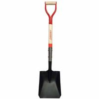 Razor-Back Square Point Shovels, 12 X 9.5 Blade, 30 in White Ash D-Grip Handle, Sold As 1 Each by