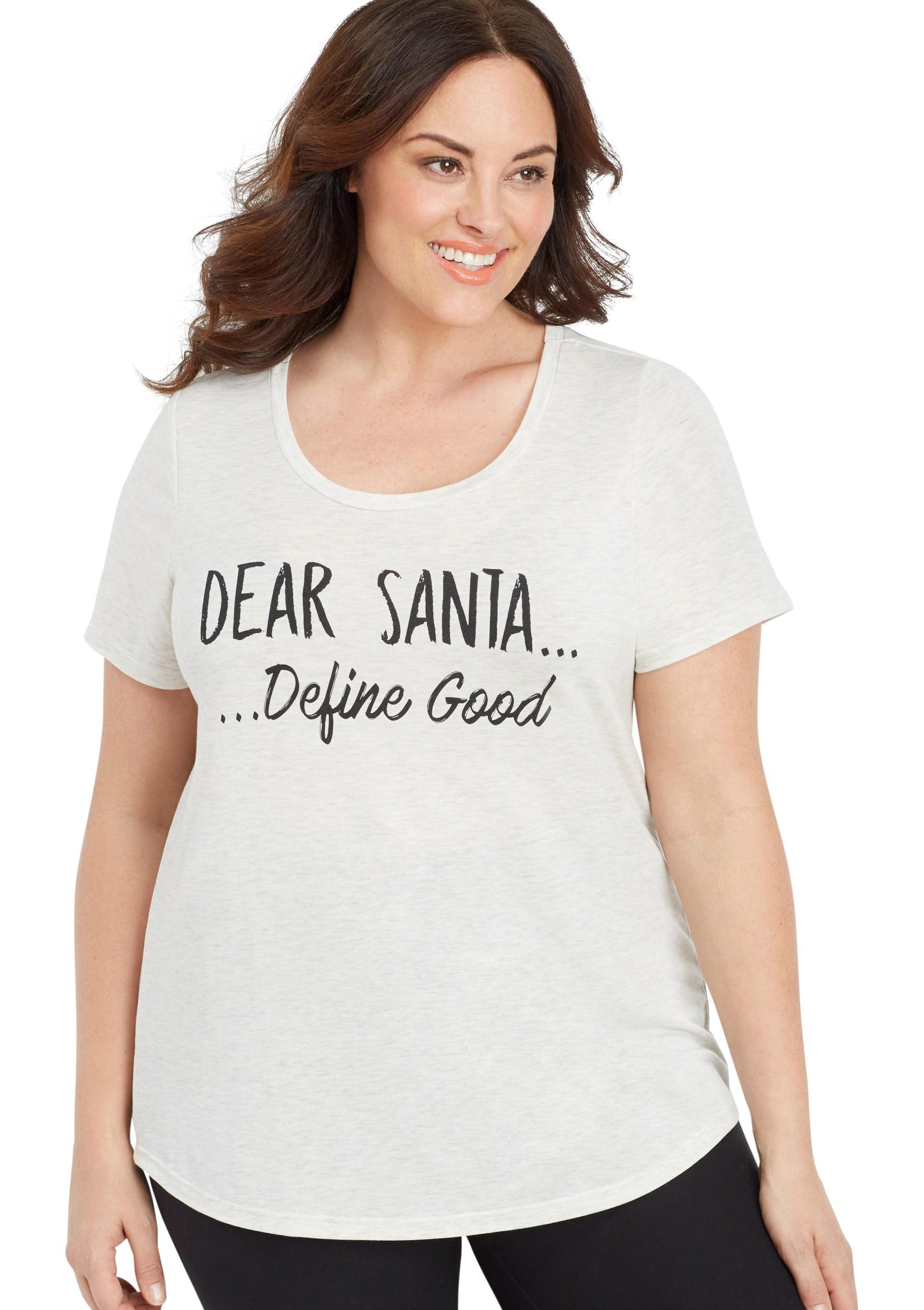 Plus Size Dear Santa Graphic Tee