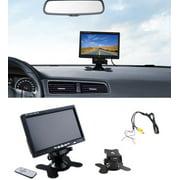 "7"" TFT LCD Backlight Color HD Mirror Monitor for Car Reverse Rear View Backup Camera Car DVD Serveillance Camera (Black)"