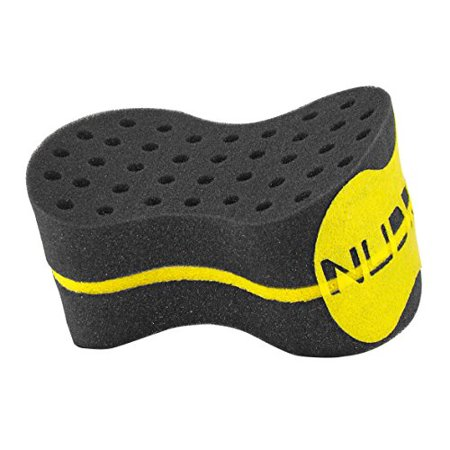 New Oval Double Side Two in One, Big and Small Holes The Original NuDred Twist Hair Sponge Afro Braid Style Dreadlock Coils Wave Hair Curl Sponge Brush (Black) - image 3 de 3