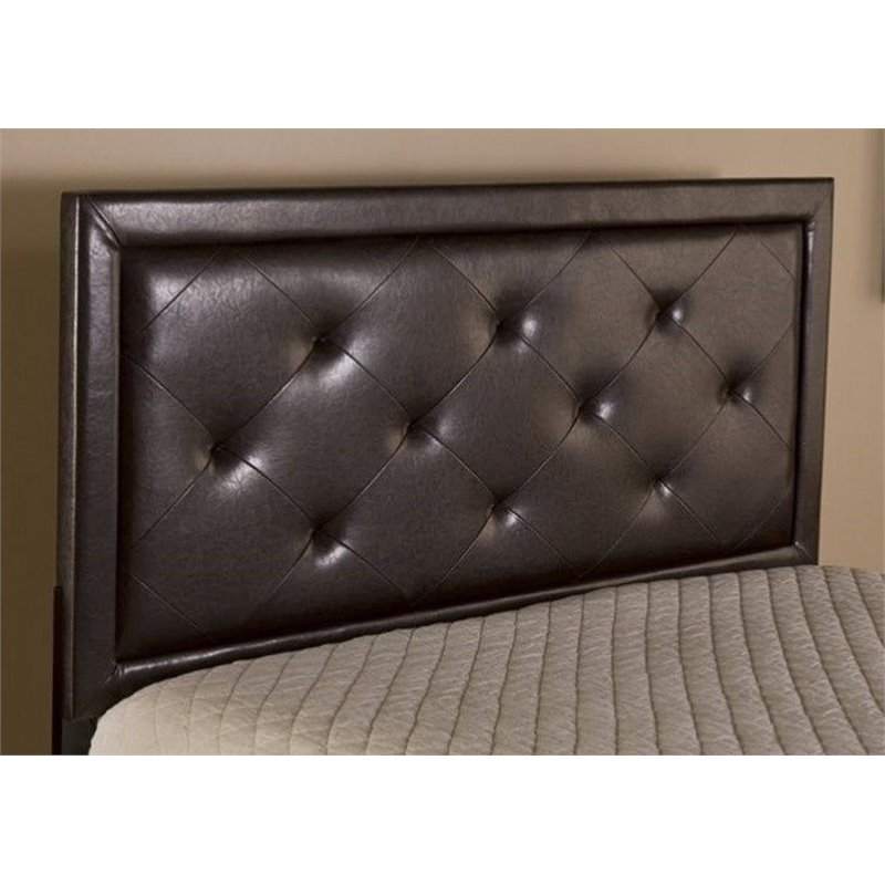 Atlin Designs Tufted Full Panel Headboard in Brown