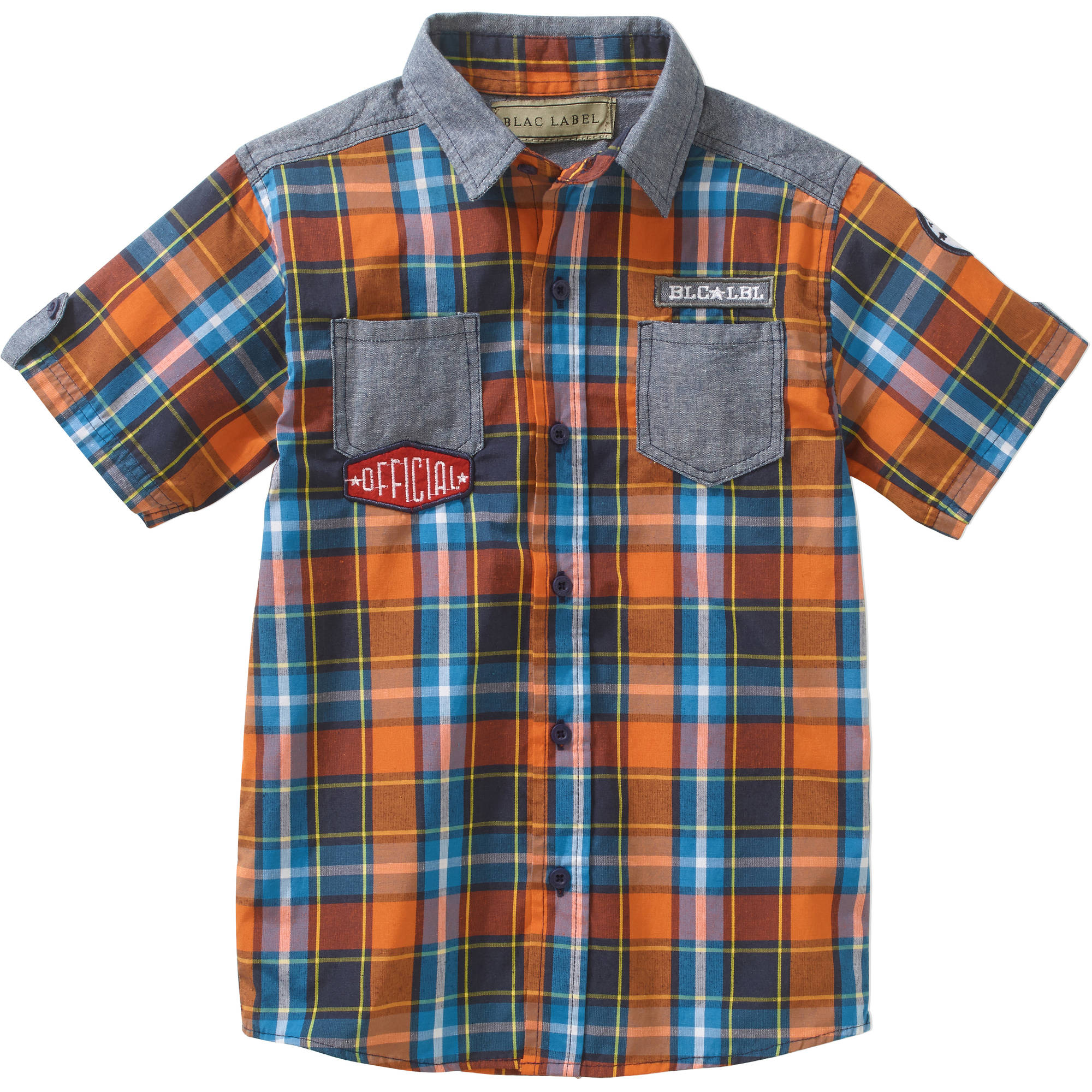 Little Boys Short Sleeve Woven Button Down