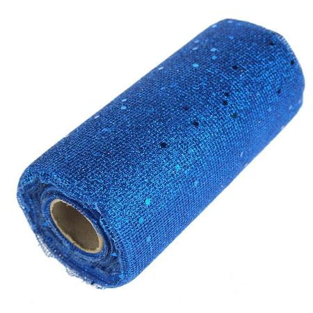 Glitter Mesh Net Roll, 6-Inch, 10 Yards, Royal - Royal Blue Mesh