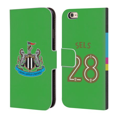 OFFICIAL NEWCASTLE UNITED FC NUFC 2016/17 HOME KIT 1 LEATHER BOOK WALLET CASE COVER FOR APPLE IPHONE PHONES