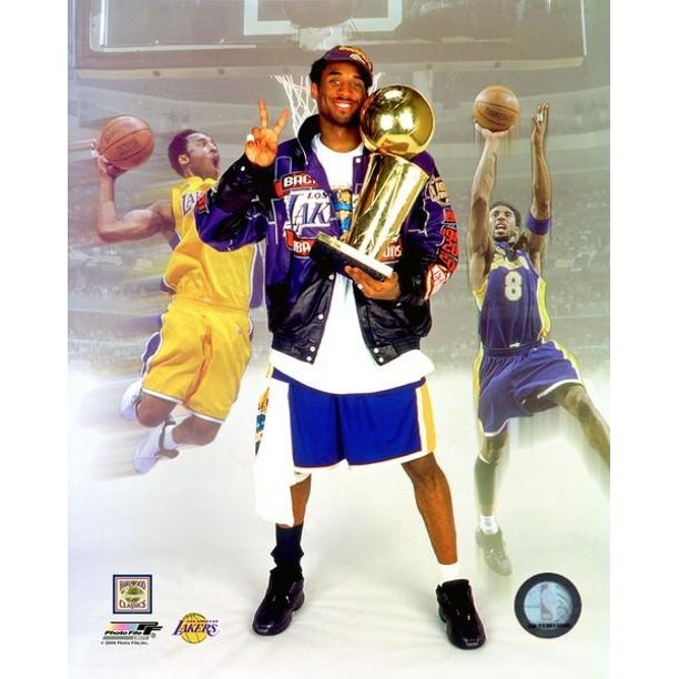 Kobe Bryant 2001 Back To Back Champion Photo Print 11 X 14 Walmart Com Walmart Com