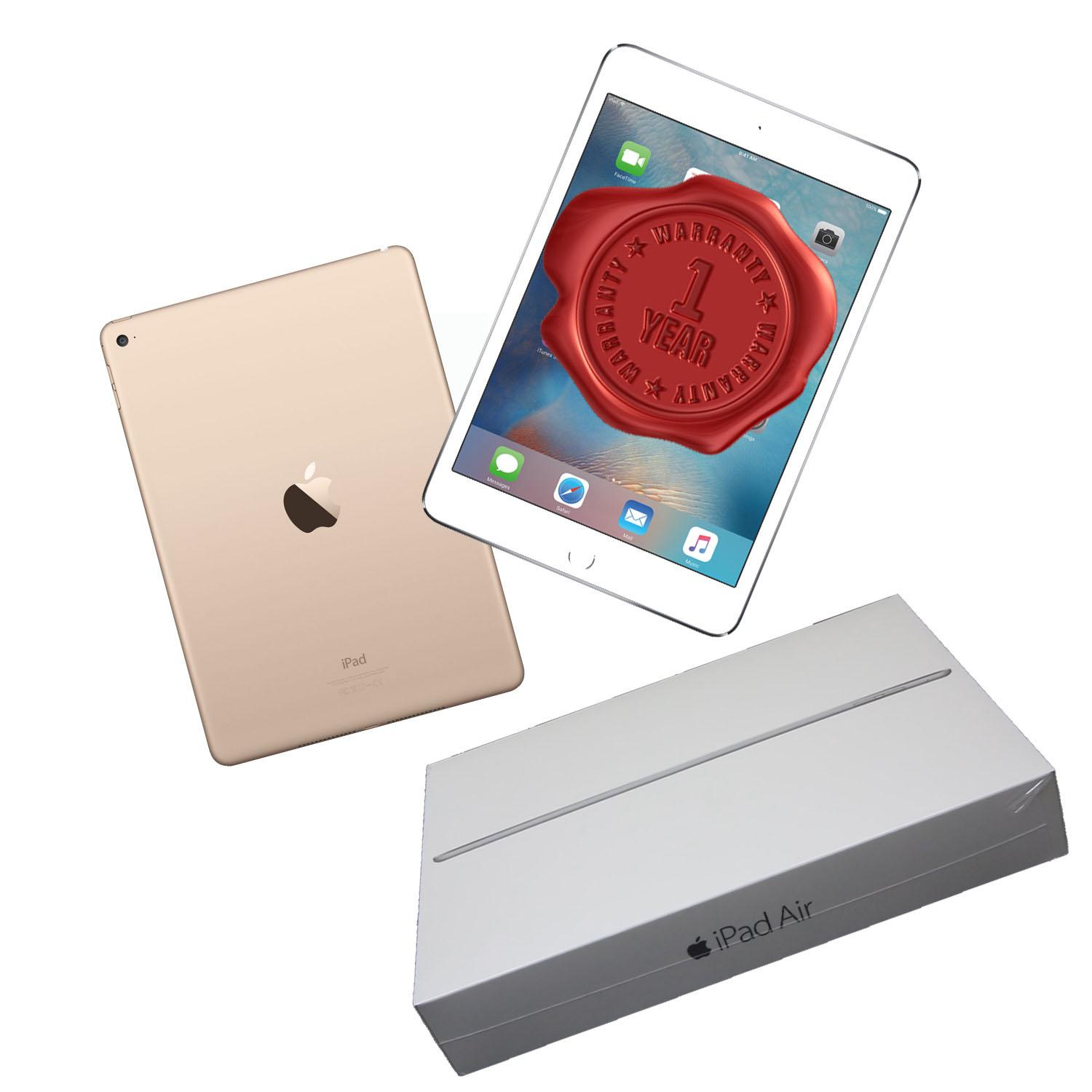 Apple iPad AIR 2 Gold 32GB Wi-Fi Only A-Graded plus ONE YEAR WARRANTY