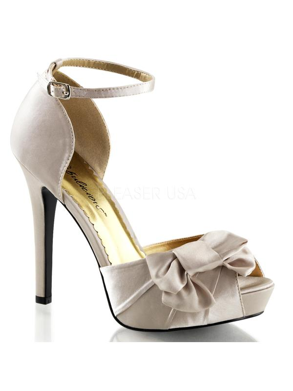 "LUMINA36/CHASA Fabulicious Shoes 4 3/4"" Lumina Champaign Satin Size: 6"