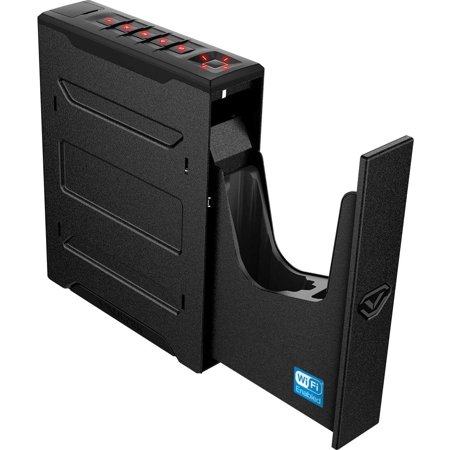 Vaultek Slider Series Rugged Bluetooth Smart Handgun Safe Quick Open Pistol Safe with Rechargeable Li-ion Battery (Biometric + WiFi)