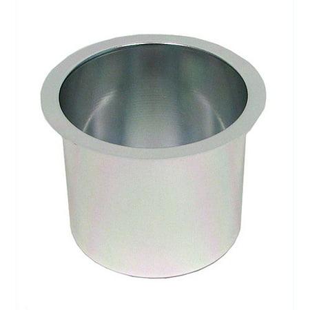 Poker Cup Holders - Trademark Poker Jumbo Aluminum Silver Poker Table Cup Holders, Set Of 10