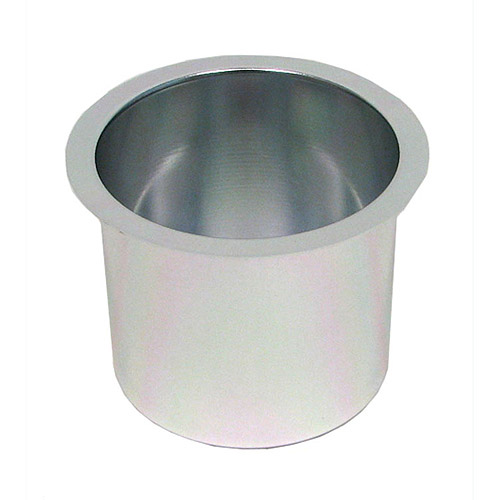Trademark Poker Jumbo Aluminum Silver Poker Table Cup Holders, Set Of 10
