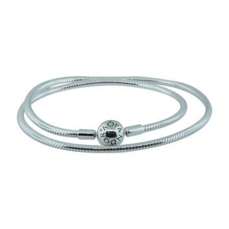 Authentic Sterling Silver Necklace w/ Signature Clasp 590742HV-45, 17.7 in, 45 cm (Authentic Tiffany & Co Jewelry)