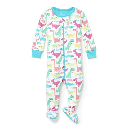 The Children's Place Stretchies Footed Sleeper Pajamas (Baby Girls & Toddler Girls)