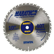 Irwin Marathon 10 in. Dia. x 5/8 in. Carbide Miter and Table Saw Blade 40 teeth 1 pc.