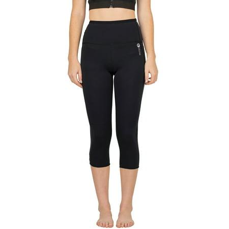 Women's Heat Maximizing Neoprene Exercise & Anti-Cellulite Capris, BLACK, X-Large ()