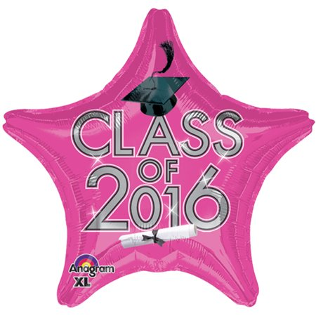 Anagram Class of 2016 Grad Cap Star Jr Shape 19