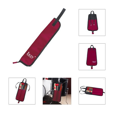 Drumstick Case - Drum Stick Bag Case Water-resistant 600D with Carrying Strap for Drumsticks