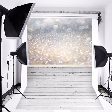 3x5FT Christmas Glitter Wooden Floor Photography Vinyl Fabric Background Backdrop Photo Studio Props - Glitter Backdrop