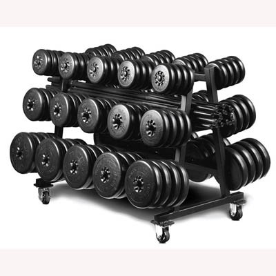 York Barbell Aerobic Weight Set Club Pack Includes Rack
