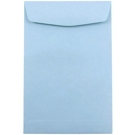 JAM Paper 6 x 9 Open End Catalog Envelope, Baby Blue, 100/pack - Baby Catalog