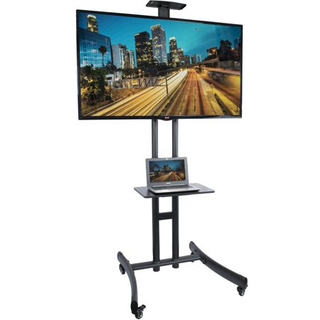 Vivo Tv Cart For Lcd Led Flat Screen Mount Stand W  Mobile Wheels Fits 30    70   Stand Tv06f