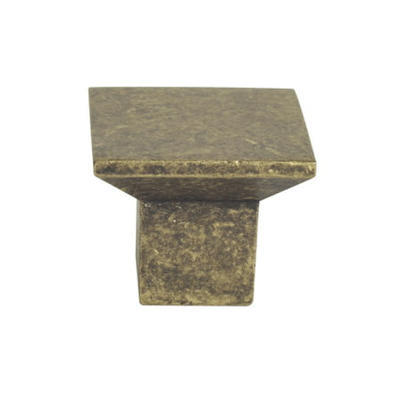 Design House 205187 Cubist Cabinet Knob, Antique Brass