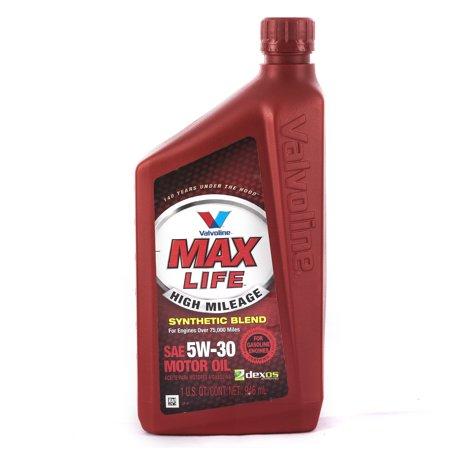 Valvoline maxlife high mileage 5w 30 motor oil 1 quart for Motor oil coupons walmart