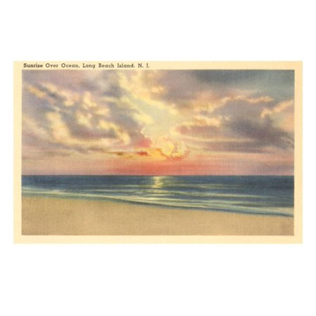Sunrise over Ocean, Long Beach Island, New Jersey Print Wall