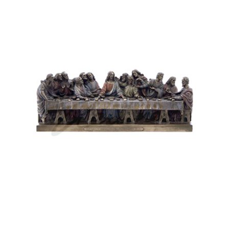 Veronese Design WU72159B4 Last Supper Cold Cast Bronze Statue  Leonardo Da Vinci Studio Cast Designs