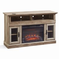 "Better Homes & Gardens Crossmill Fireplace Media Console for TVs up to 60"", Weathered Finish"