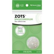 "Zots Singles Clear Adhesive Dots-Medium 3/8""X1/64"" Thick 175/Pkg"