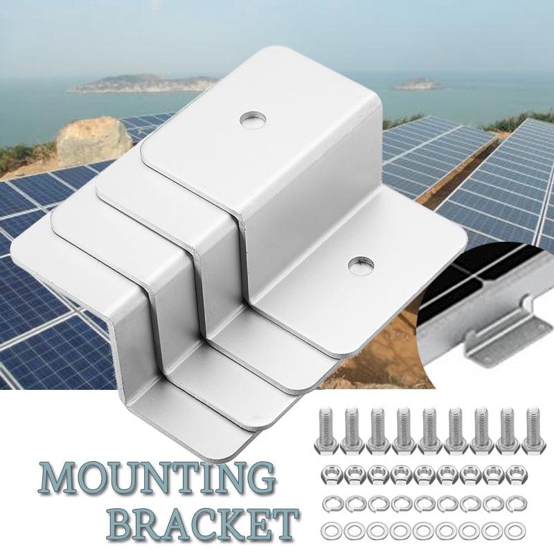 Solar Panel Mount Mounting Z Bracket Set RV Boat Off Grid Roof