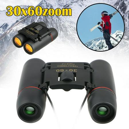 Kids Binoculars, 30x60 Mini Binoculars Folding Binoculars Compact Binoculars for Kids Waterproof Telescope for Bird Watching, Football Safari Sightseeing, Camping and