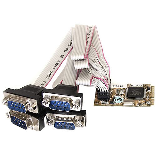 Startech 4-Port RS232 Mini PCI Express Serial Card with 16650 UART