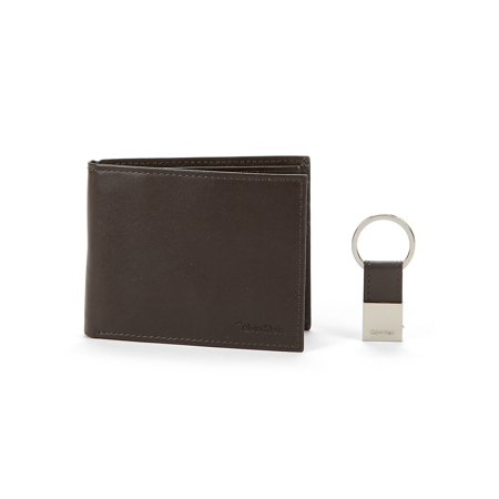 Leather Bi-Fold Wallet with Key Fob