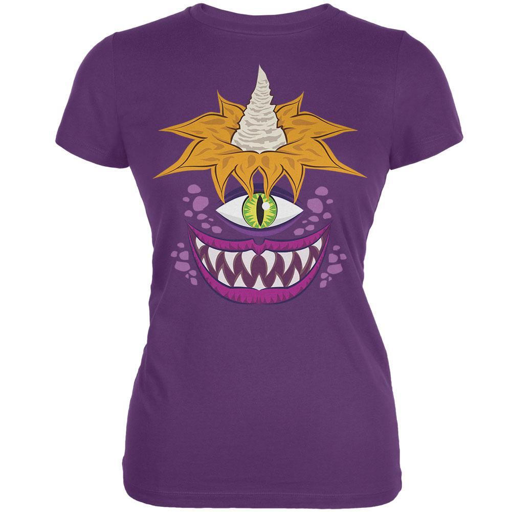 Halloween Flying Purple People Eater Plum Juniors Soft T-Shirt