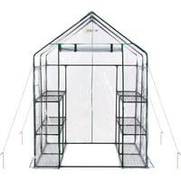 Ogrow - 6-Tier 12-Shelf - Portable Mini Walk-In Greenhouse - Deluxe