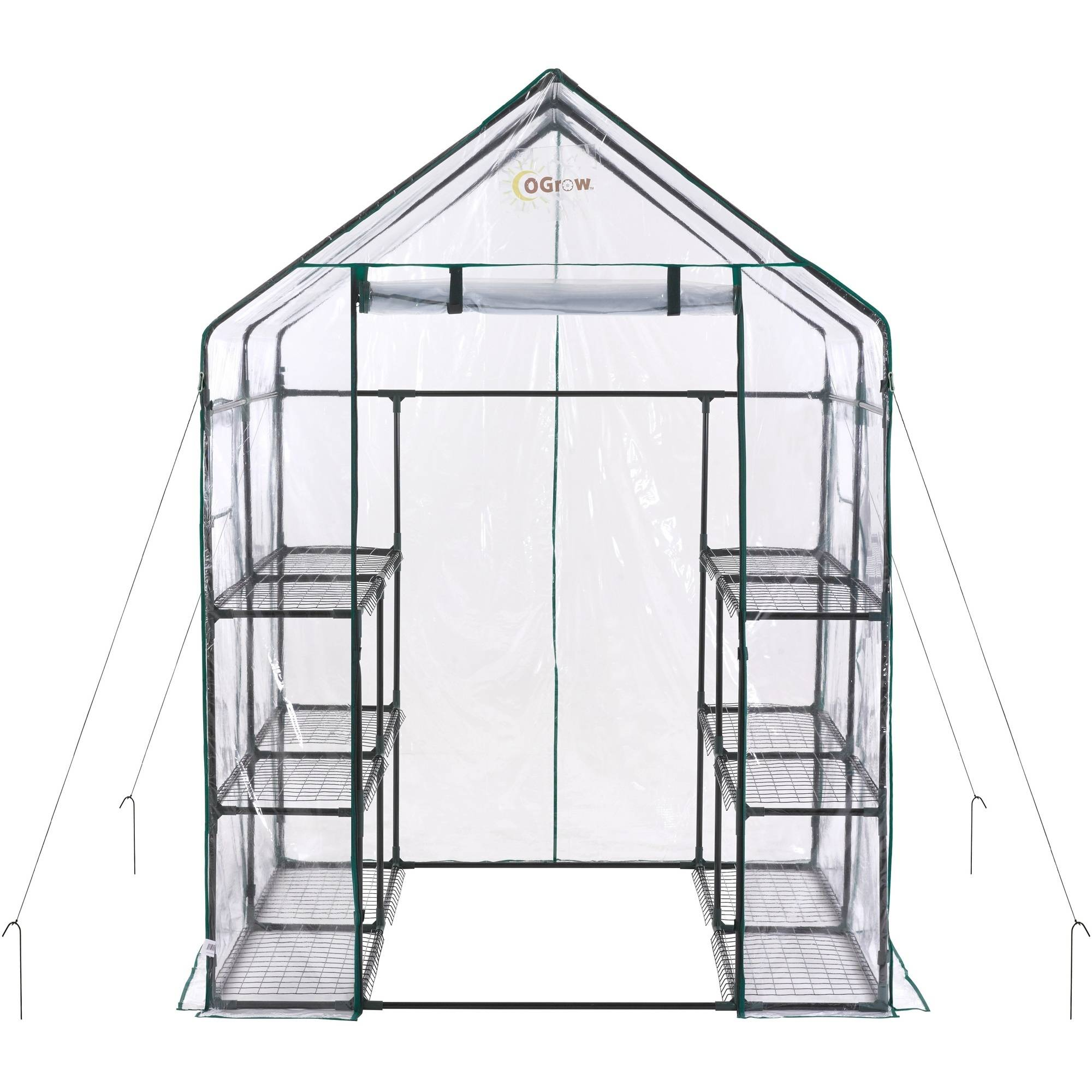Product Image Ogrow Deluxe Mini Walk In 6 Tier 12 Shelf Portable Greenhouse