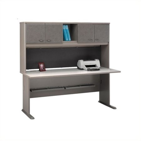 "Bush Business Series A 72"" Computer Desk with Hutch in Pewter - image 1 of 1"