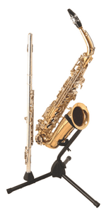 On Stage SXS7101B Alto Tenor Saxophone Stand with Flute Peg by On Stage