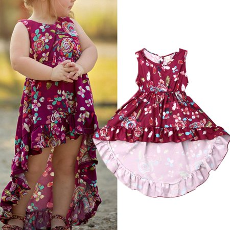 Children Holiday Dresses (Kid Baby Girl Floral Tutu Party Princess Formal Dress Irregular Holiday)