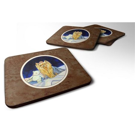 Yorkie Foam Coaster, 3.5 x 0.25 x 3.5 in. - Set of 4 - image 1 de 1