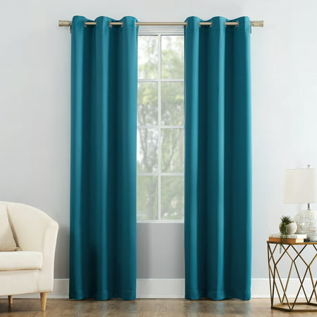 Two Tone Single (Mainstays Blackout Energy Efficient Grommet Single Curtain Panel )