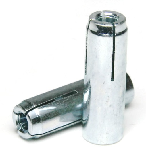 "5/8""-11 x 2-1/2"" Masonry Drop In Anchor Zinc Plated Steel QTY 250"